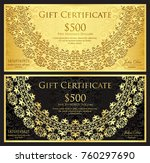 luxury gold and black gift... | Shutterstock .eps vector #760297690