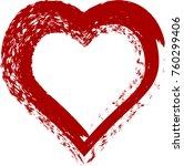 red heart valentine love logo... | Shutterstock .eps vector #760299406