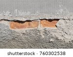 rough gray plastered wall ... | Shutterstock . vector #760302538