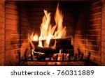 Fireplace Burning Wood Logs ...