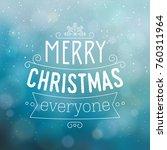 typographic christmas design  ...   Shutterstock .eps vector #760311964