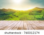 white wooden table top with the ... | Shutterstock . vector #760312174