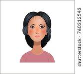 portrait asian woman. vector... | Shutterstock .eps vector #760312543