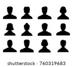male and female head... | Shutterstock .eps vector #760319683