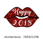 happy new year 2018  shining...   Shutterstock .eps vector #760321198