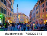 rome  italy   october 27 2017   ... | Shutterstock . vector #760321846