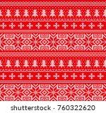 winter festive christmas... | Shutterstock .eps vector #760322620
