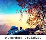 flare  soft focus. sunny... | Shutterstock . vector #760325230