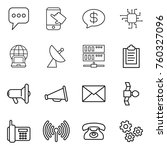 thin line icon set   message ... | Shutterstock .eps vector #760327096