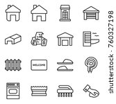 thin line icon set   home ...   Shutterstock .eps vector #760327198