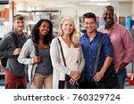 portrait of mature student... | Shutterstock . vector #760329724