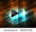 color neon glowing triangles ... | Shutterstock .eps vector #760337203