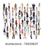 big crowd business men and...   Shutterstock . vector #76033819