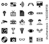 sport show icons set. simple... | Shutterstock .eps vector #760338958