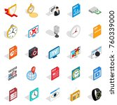internet broadcast icons set.... | Shutterstock .eps vector #760339000