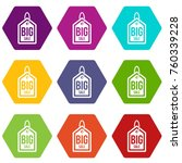big sale tag icon set many... | Shutterstock .eps vector #760339228