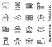 thin line icon set   shop ...   Shutterstock .eps vector #760339810