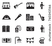 music festival icons. black... | Shutterstock .eps vector #760343566