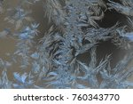 natural frosty patterns on the... | Shutterstock . vector #760343770