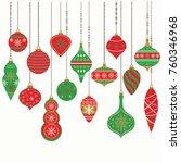 christmas ornaments christmas... | Shutterstock .eps vector #760346968