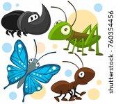 a set of cartoon illustrations... | Shutterstock .eps vector #760354456
