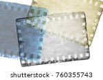 vintage sepia and blue film...   Shutterstock . vector #760355743