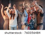 party with friends. they love... | Shutterstock . vector #760356484