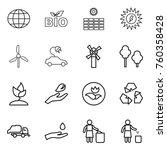thin line icon set   globe  bio ...   Shutterstock .eps vector #760358428