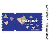 vector discount voucher...   Shutterstock .eps vector #760366696
