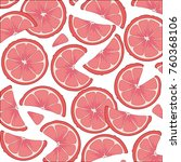 juicy large slices of  ripe... | Shutterstock . vector #760368106