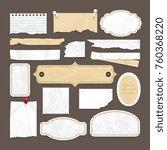 retro scrapbooking vector... | Shutterstock .eps vector #760368220