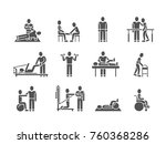 medical physical therapy and... | Shutterstock .eps vector #760368286