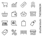 thin line icon set   cart ... | Shutterstock .eps vector #760368634