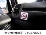 label no smoking in the car