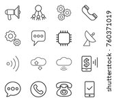 thin line icon set  ... | Shutterstock .eps vector #760371019