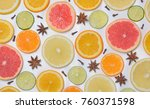 background with citrus fruit... | Shutterstock . vector #760371598