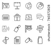 thin line icon set   shop... | Shutterstock .eps vector #760372828