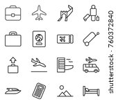 thin line icon set   portfolio  ... | Shutterstock .eps vector #760372840