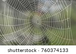 spiderweb without spider in the ... | Shutterstock . vector #760374133