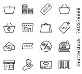 thin line icon set   basket ... | Shutterstock .eps vector #760376668