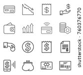 thin line icon set   card ... | Shutterstock .eps vector #760376770