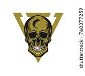 skull warrior head sport logo... | Shutterstock .eps vector #760377259