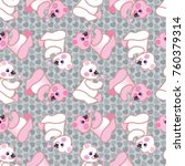 cute teddy bear pattern with a... | Shutterstock .eps vector #760379314