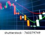 stock exchange market graph... | Shutterstock . vector #760379749