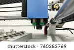machine pick and place to... | Shutterstock . vector #760383769