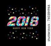 greeting vintage banner 2018...   Shutterstock .eps vector #760384966