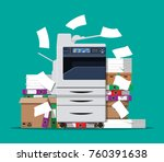 office multifunction machine.... | Shutterstock .eps vector #760391638