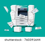 office multifunction machine.... | Shutterstock .eps vector #760391644