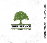 professional arborist tree care ... | Shutterstock .eps vector #760392088