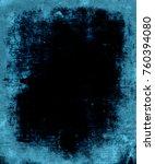 grunge blue dark scratched...   Shutterstock . vector #760394080